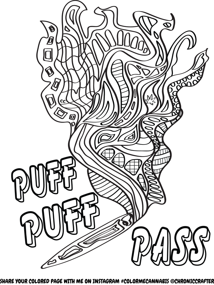 Free Stoner Coloring Page From Chronic Crafter Whoa Man Theres A Book