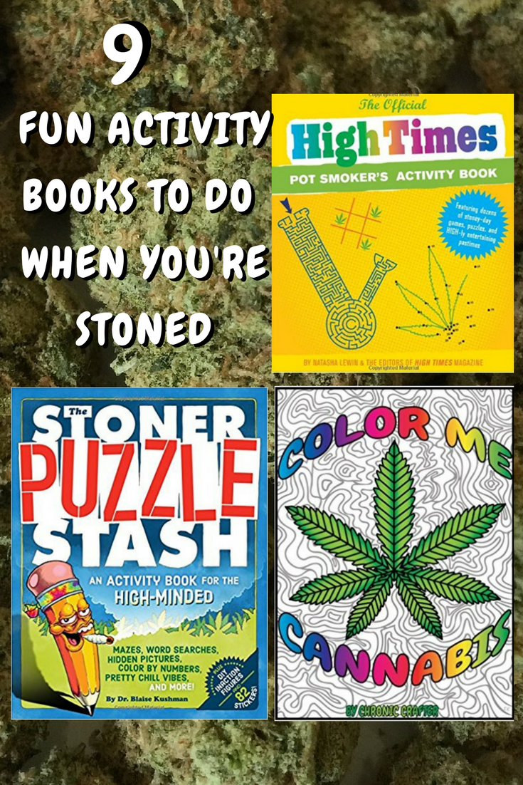9 Stoner Activity Books to do When You're High and Bored