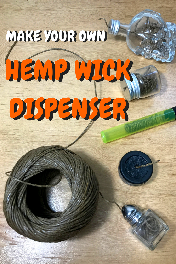 DIY Hemp Wick Dispenser