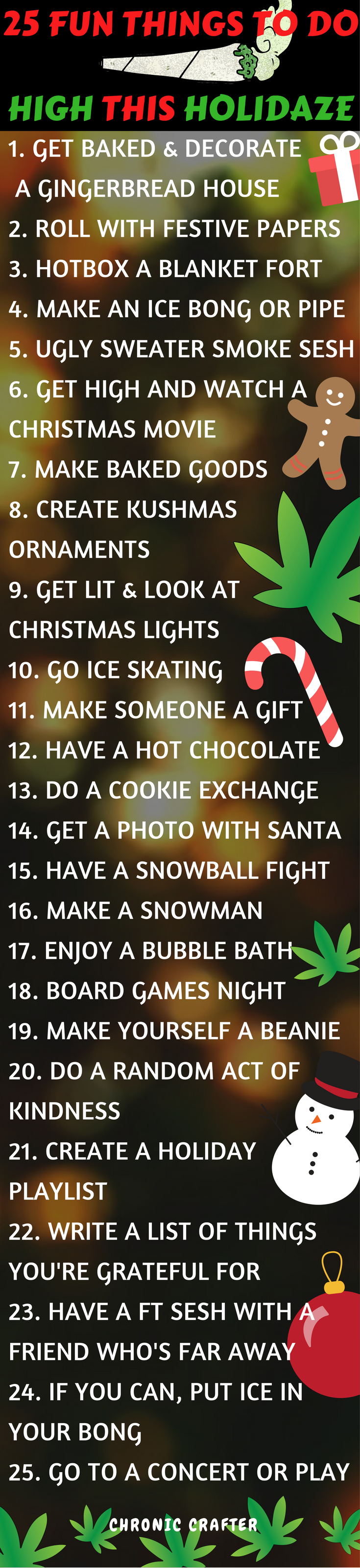 25 Fun Things to Do High this Holidaze Kushmas