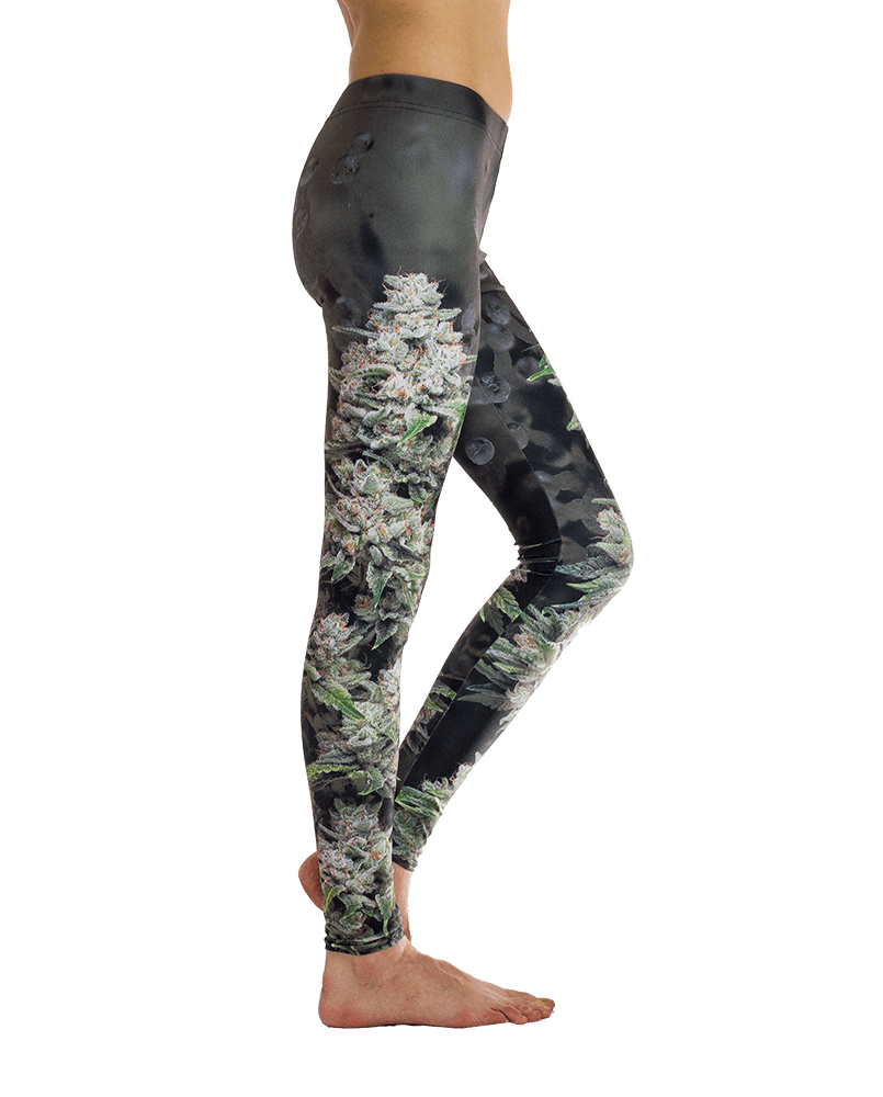 Kindstem Cannabis Print Leggings for Stoner Girls
