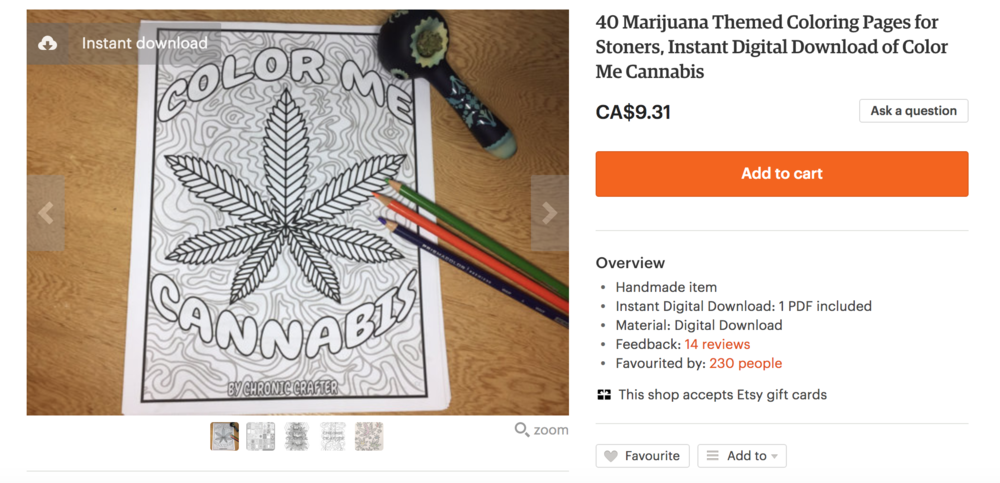 420 Party Decorations and Fun Ideas Stoner Coloring Book