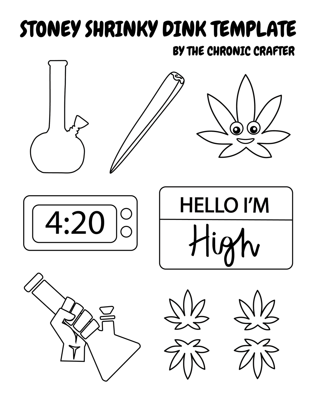 Stoner Crafts Shrinky Dink Template