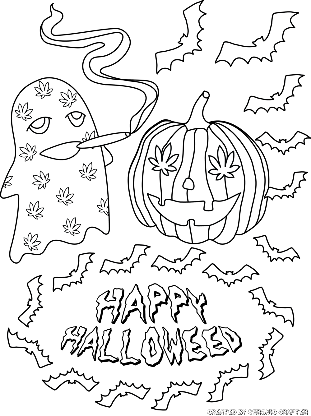 Chronic Crafter Halloweed Coloring Contest for Stoners