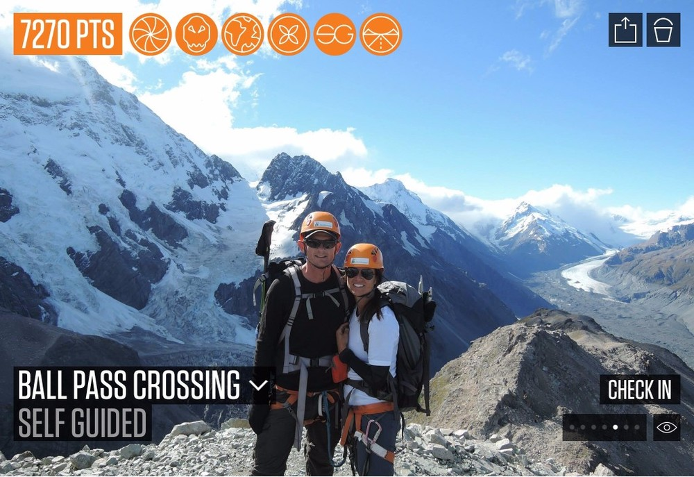 Ball Pass Crossing is a demanding 2 - 3 day alpine route, crossing the Mount Cook Range between the Hooker and Tasman Valleys.   Added by Henry Talbot