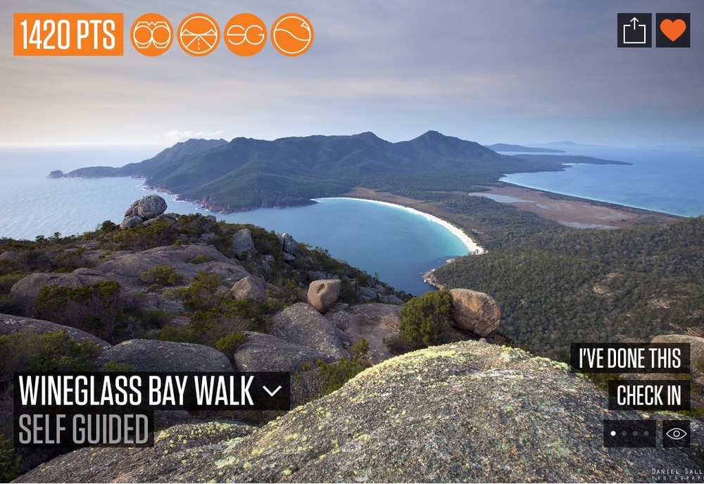This walk will give you one of Tasmania's most celebrated views over the beautiful white sands of Wineglass Bay. The track is a short, fairly steep climb to the saddle between Mt Amos and Mt Mayson. (photo Daniel Sallai)  Added by Ravi Rudner