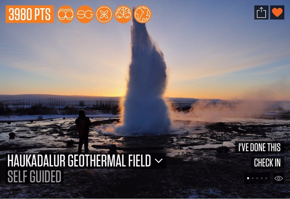 Some of the best geysers in the world are located in Haukadalur geothermal field. One of these geysers - Geysir - has given name to this phenomenon and provides some of the most spectacular eruptions worldwide.  Added by Inga Hrönn