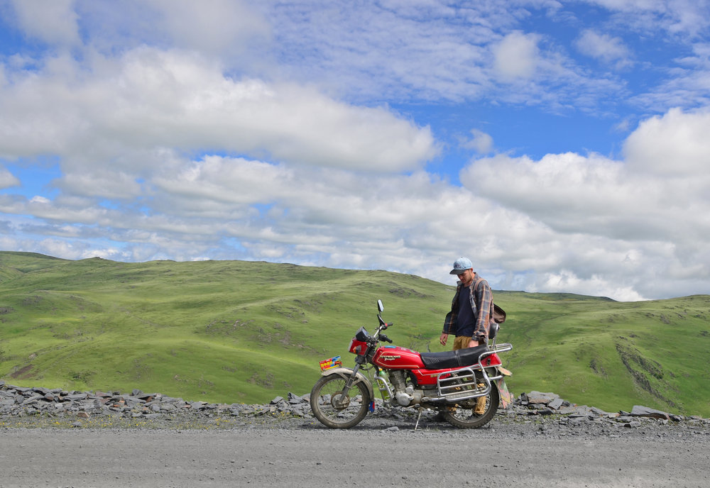 The Tibetan Plateau by Motorbike