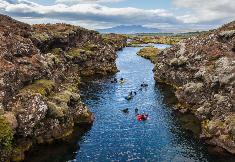 Snorkelling Silfra Fissure, Iceland by Hannah Berglund