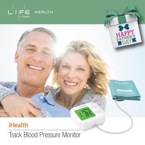 定期量度血壓可及早發現及預防各種高風險疾病。  獲得美國藥品監管局認證的 iHealth Track  無線血壓計細細部,容易使用,令爸爸可以輕鬆量度血壓,又可將血壓數據自動記錄在 Smartphone 上,可便自己及醫生隨時掌握爸爸的身體情況。一部血壓計還可以同時記錄多個家人的血壓紀錄,爸爸用完就到媽媽,家中兩老的血壓健康就靠一部 iHealth Track 一次過搞掂晒。  The handy and easy-to-use iHealth Track Blood Pressure Monitor has been approved by FDA in US.   The BP records can be stored in your smartphone so that you can keep tracking your father's health condition by reviewing his BP records regularly. The BP records can be organised under multiple accounts so that your parents can use the same monitor and you can track their BP records in the same place.