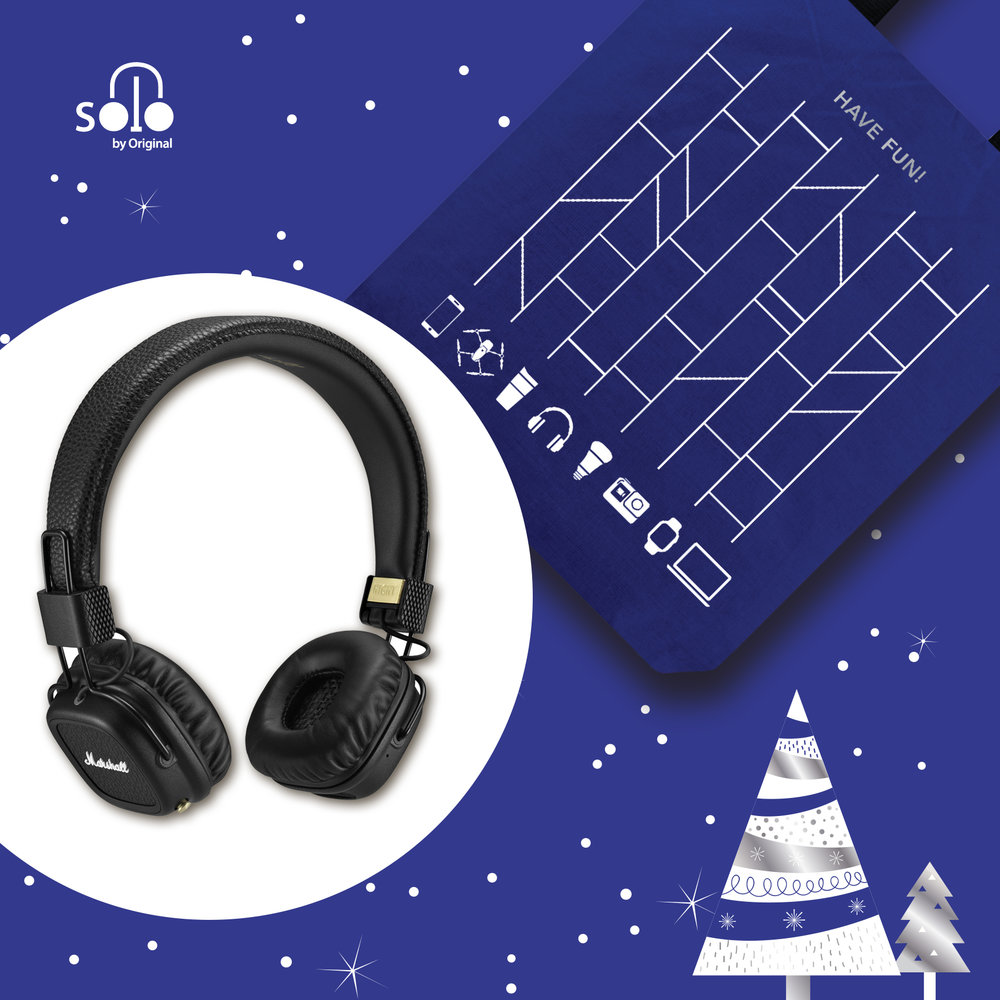 Marshell Major II Wireless Headphone 無線耳機 - 全黑主色配合40mm動態單元,看外表就是為搖滾或金屬發燒友而設。擁有驚人電量,充一次電便可以無線播放超過30小時,更可進行無線通話,或即時接上3.5mm線和朋友分享音樂;多功能而且高品質,Major II確保了Marshall品牌一直以來的口碑。The black-colored Marshall Major II appeals to rock and metal fans with its outlook and the 40mm dynamic drivers. Its battery goes beyond 30+ hours of continuous play-time with a single charge, providing strong support to its music playback and phone functionality. Music can be instantly shared with the help of a 3.5mm cable, too. All these combined make Major II another great product of Marshall.