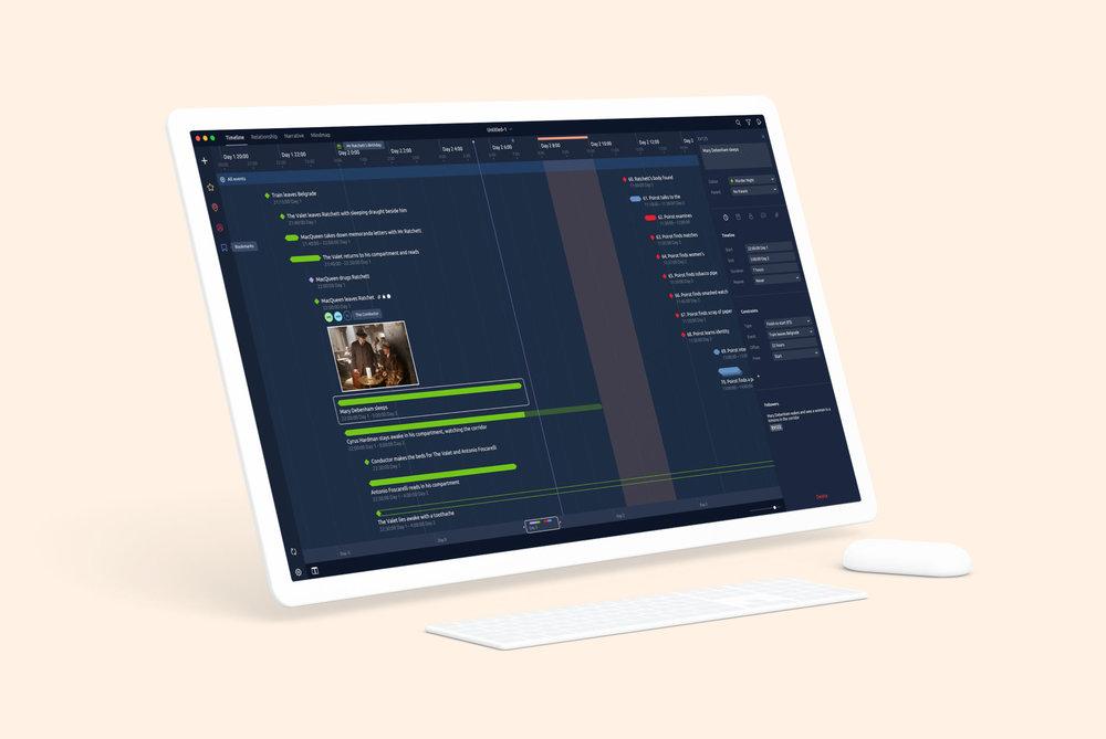 Aeon for  Aeon Timeline   UI & UX for   Desktop & iPad iOS