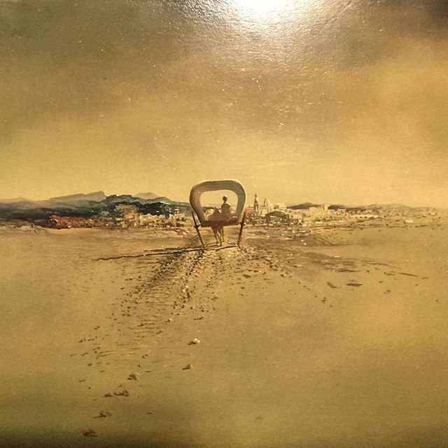 "Another gem I brought back from Catalonia this week... a tiny little painting made by Salvador Dali and exhibited at the Figueres Dali Museum... He incarnates for me the absolute versatile artist in all its forms and that's why I love his work so much!  Here here a 15 cm x 12 cm painting called ""The Phantom cart"" made in 1933. Despite its tiny format, this painting transported me to the other side of the world and back!  Enlarge the picture and dive in his genius like I did!  Link in bio.  #salvadordali #dali #phantom #voyage #perspective #artist #painter #genius #figueres #museum #installation #spain #catalonia #art"