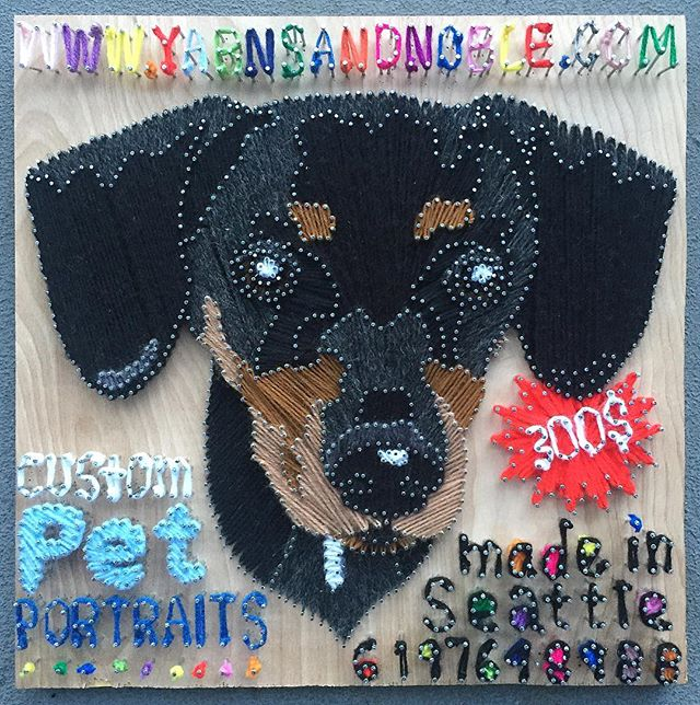 Hand nailed and hand strung yarn. #madeinseattle for an ad for the @pet_connection_magazine call or text. #seattleart #yarnart #yarnsandnoble #petportraits #custom #callortext #stringart #dogart #dachshund @dogsofinstagram @dogs @dogs.lovers @dog @dogs_of_day @dogsbeingbasic @ifyouhigh @thedoxieworld @dachshundappreciation @cutest.dachshund @dachshund_corner @dachshund_love_ig