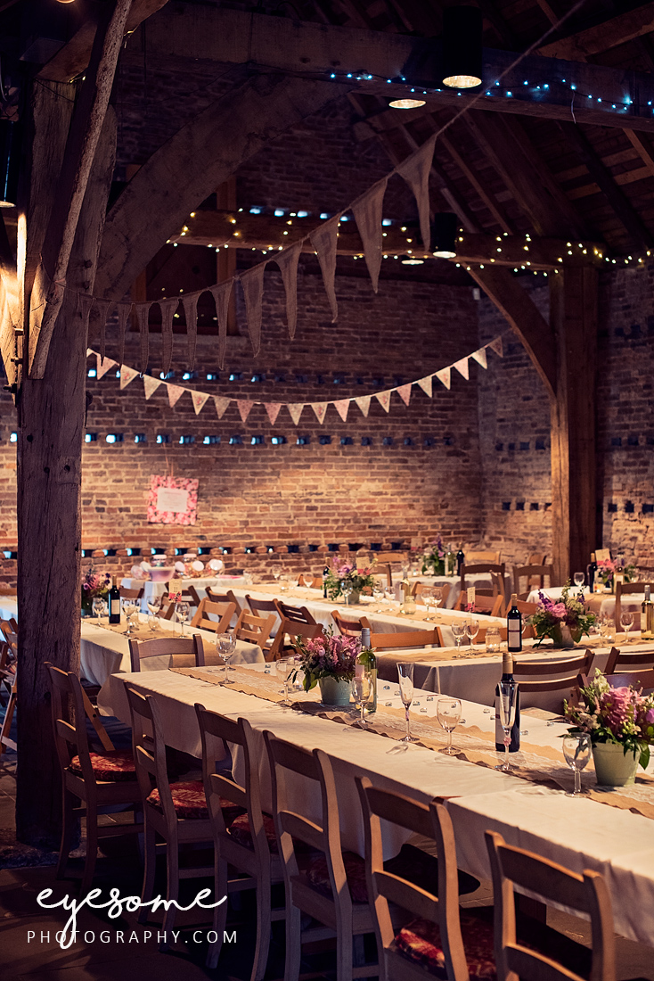 The Tithe Barn at Poppleton in York is a magical setting for a wedding breakfast.