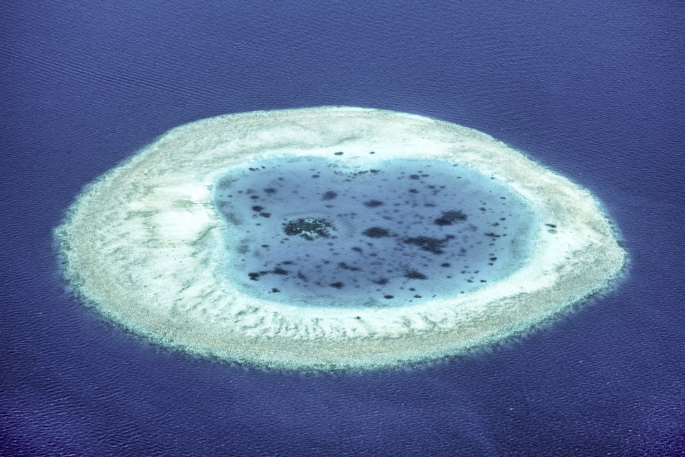A reef viewed from the seaplane.