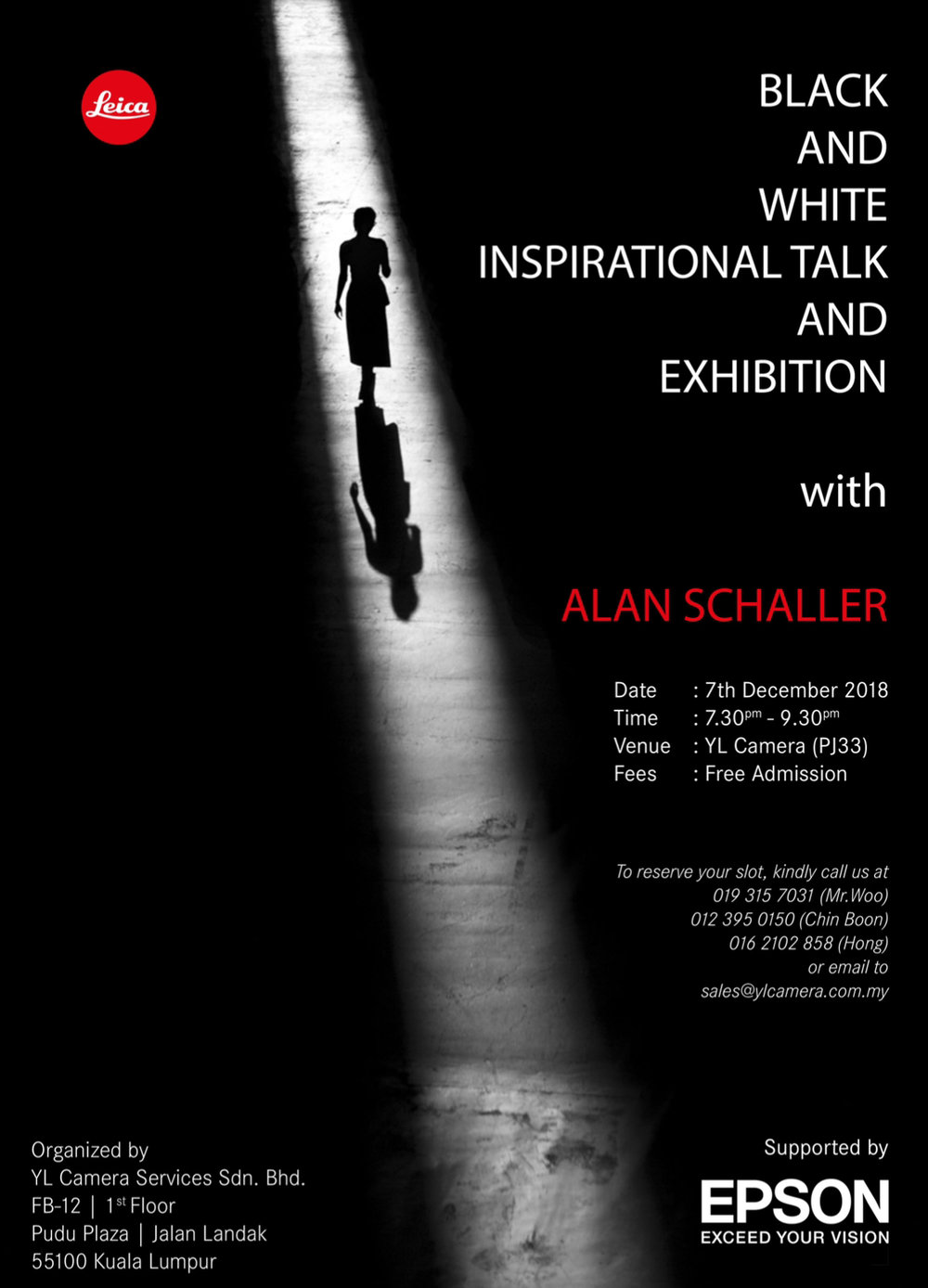 Flyer for the Kuala Lumpur Exhibition.