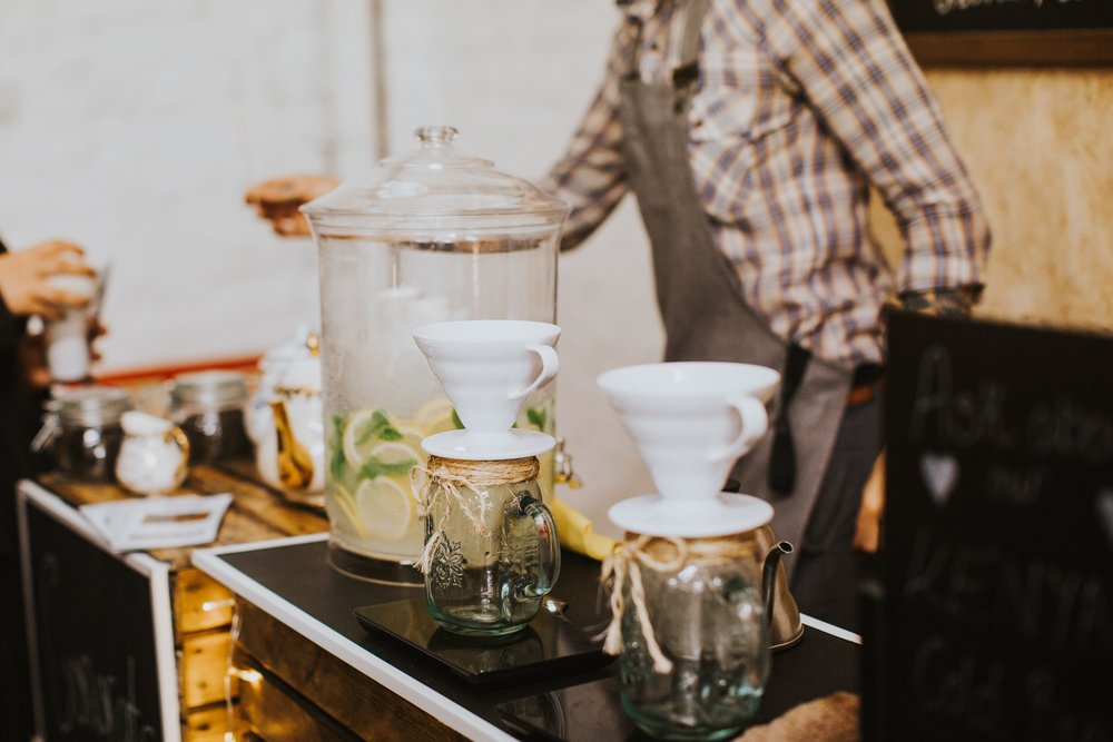 Filter Coffee and Lemonade for Weddings & Events