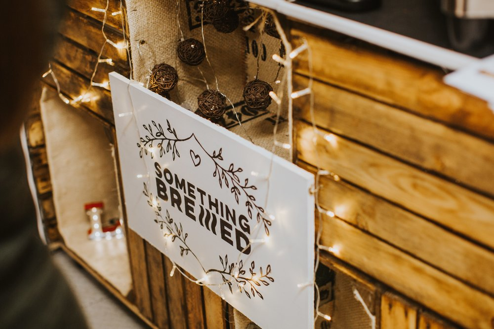 Something Brewed Sign for Weddings & Events