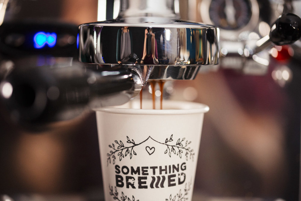 Our naked portafilters allow us to see the brew and ensure the extraction of the coffee is even & perfect every single brew.