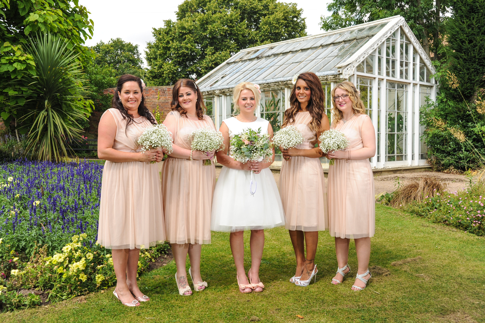 Tiff and her entourage of Bridesmaids await her Wife-to-be at the Mansfield Manor Hotel