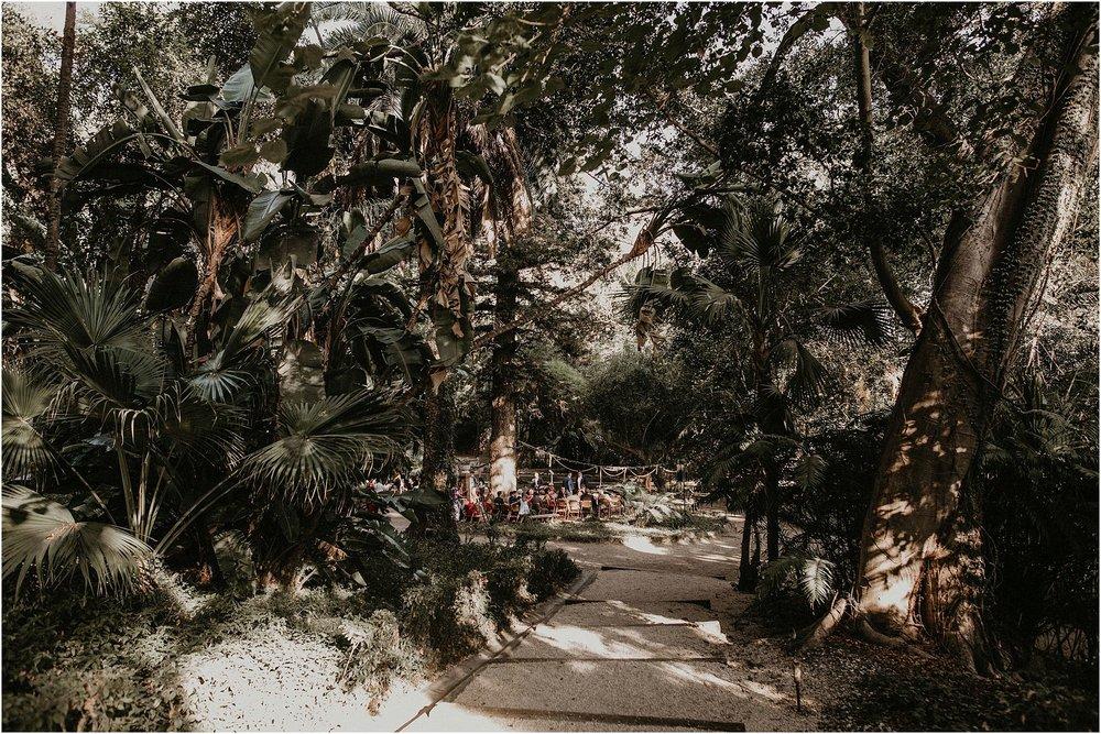 Boda en jardín botánico de Málaga.