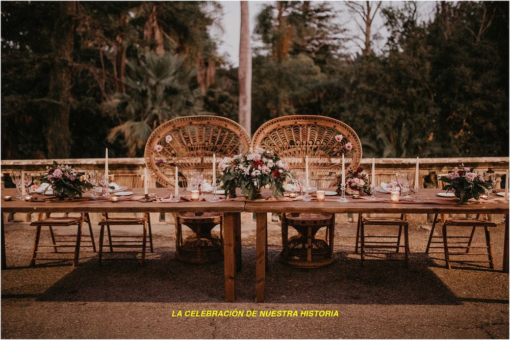 Eco natural decoration in Málaga by Open the Door Events.