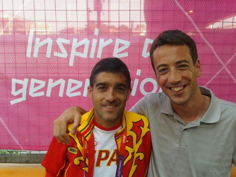 Coaching Spanish marathon runner Nacho Cáceres in the Olympics 2012 in London