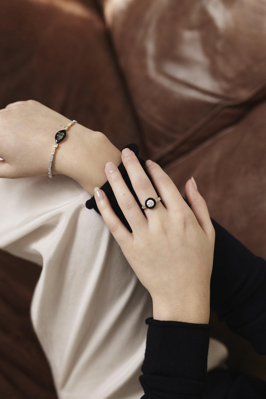 EMMANUELLE BRACELET // MARION RING • V Jewellery