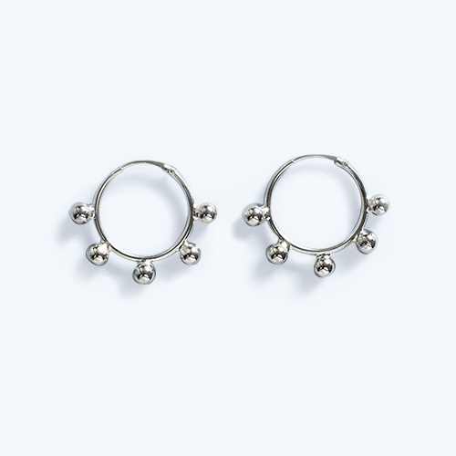 SPHERE HOOP EARRINGS • Jessie Harris