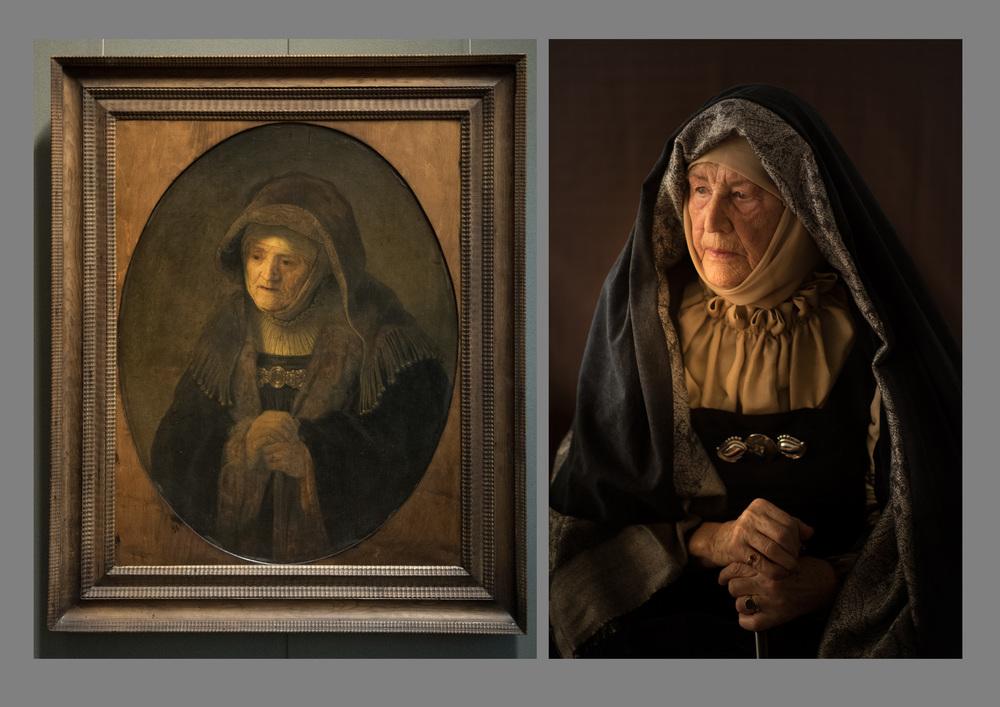 """Original von Rembrand - Foto by Felix Mayr """"Prophetin Hanna"""""""