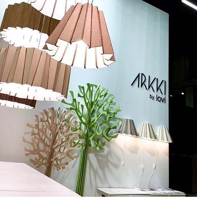 Skirt and Drum -lights shown at @orgatec Photo by @arkki_by_lovi - Looking good👍🏻 #andbros #arkkibylovi #orgatec2018