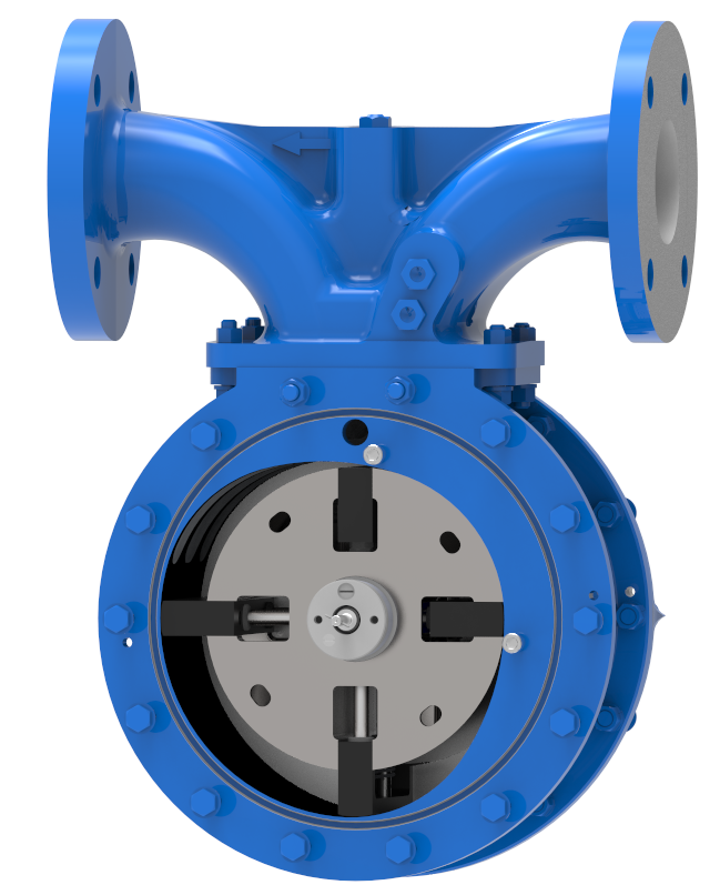 The BM Series Meter with internal view of rotor.