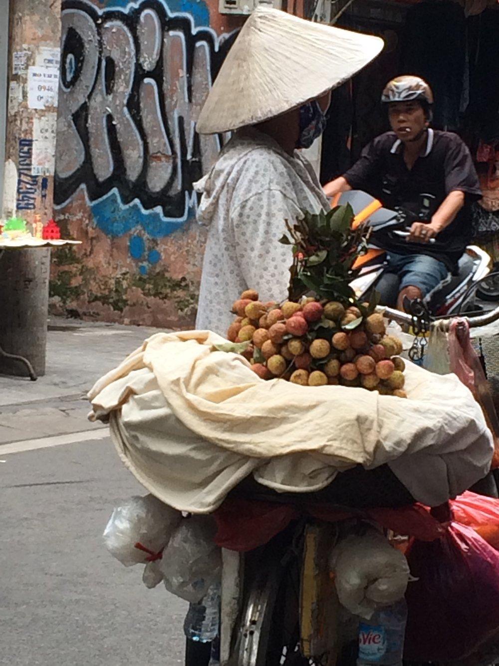 Lychee seller