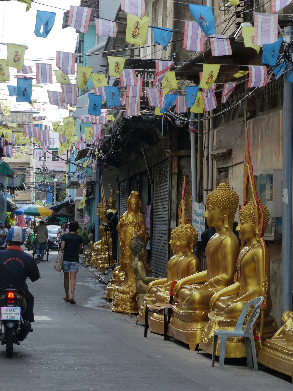 In Bangkok, shops are in districts, this was the shrine district.