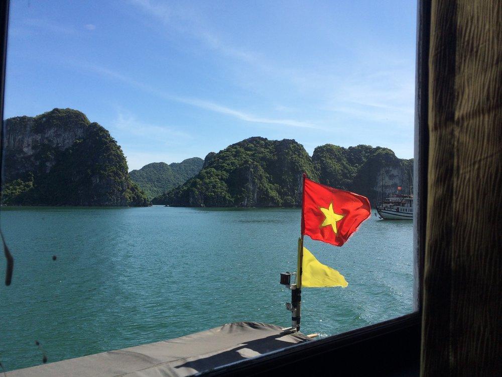 Sailing in Halong Bay, Vietnam