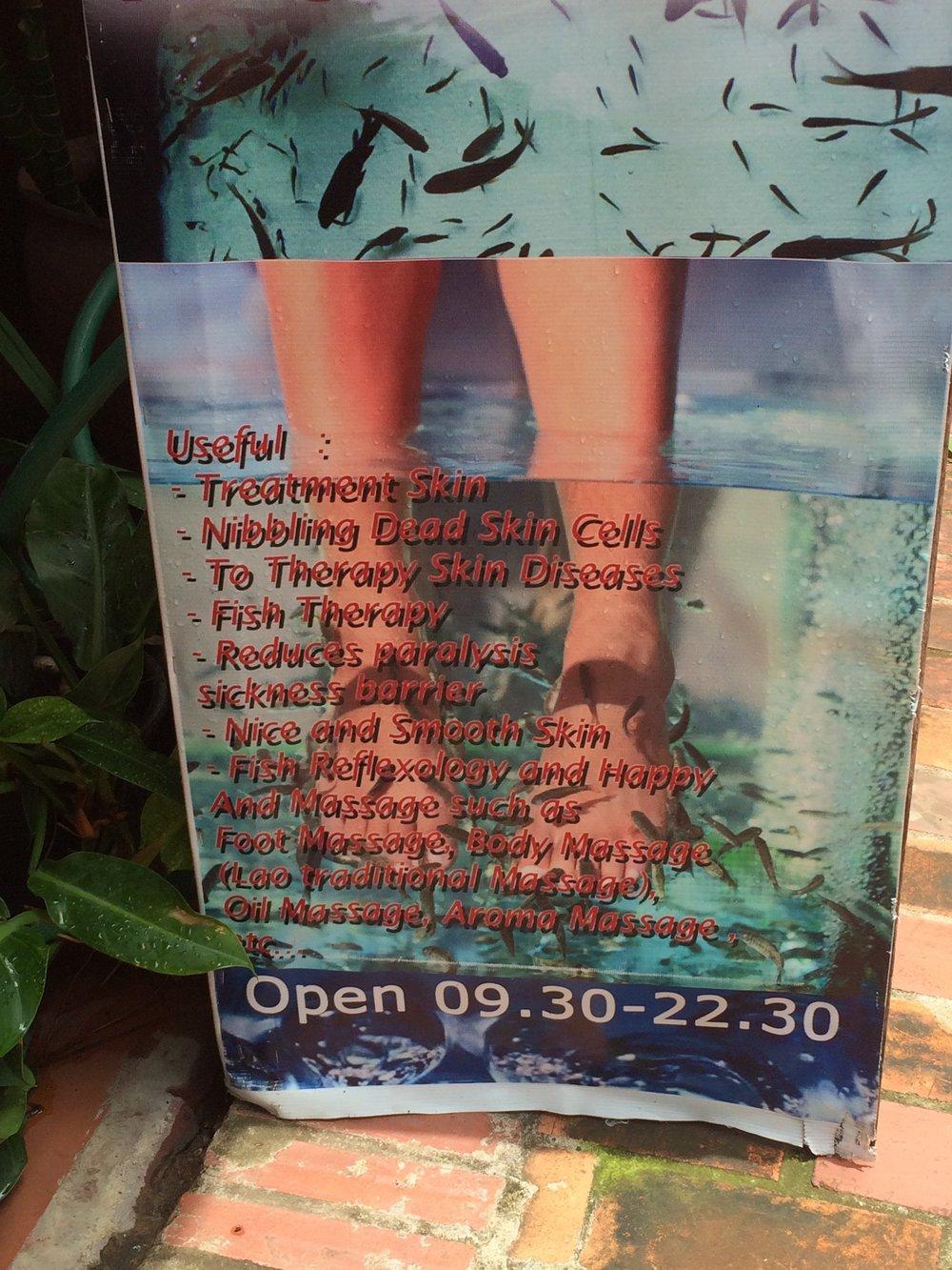 Fish spa?