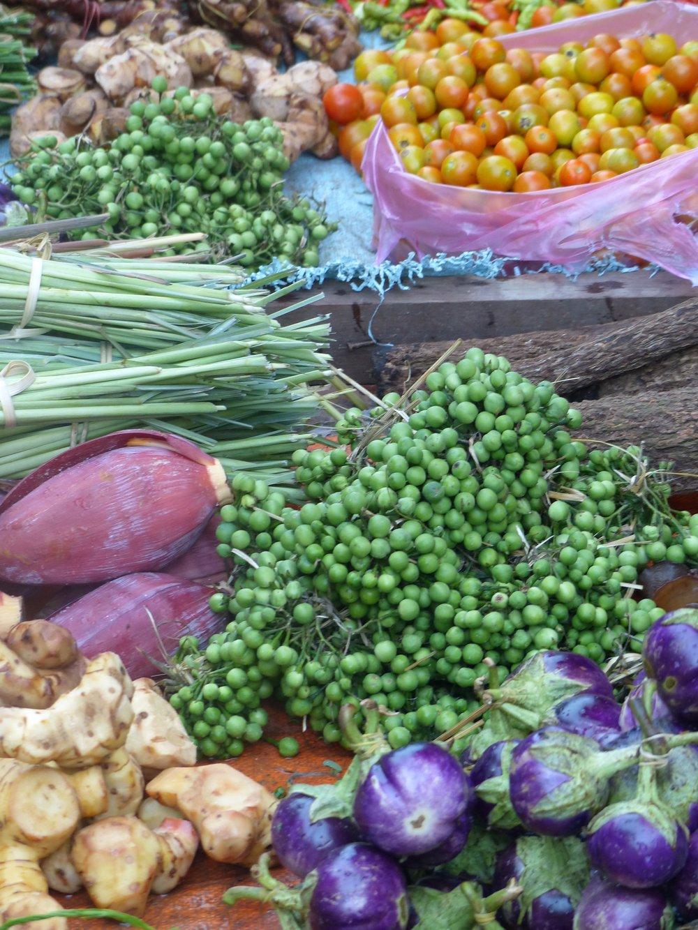 laos luang prabang market