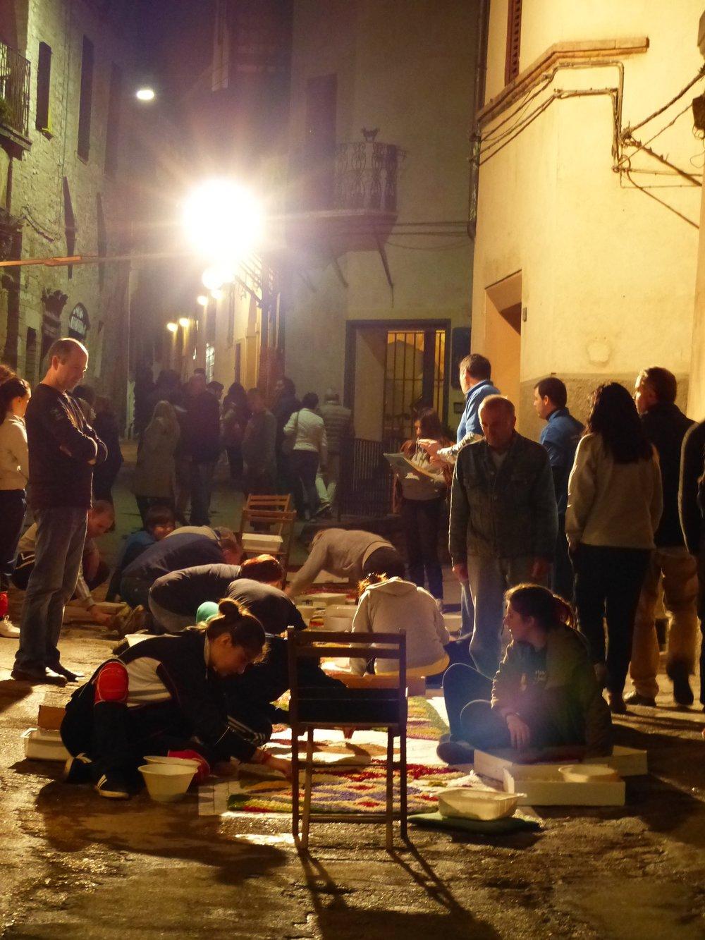 Pochi ma Buoni at work at Infiorata in Spello, Umbria