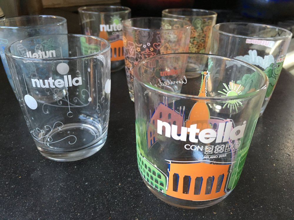 nutella collectible glasses