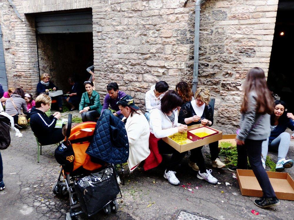 Hum is increasing for Infiorata in Spello, Umbria