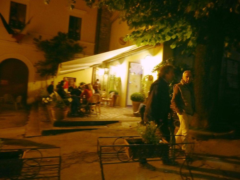Bar still open at 2 for Infiorata in Spello, Umbria