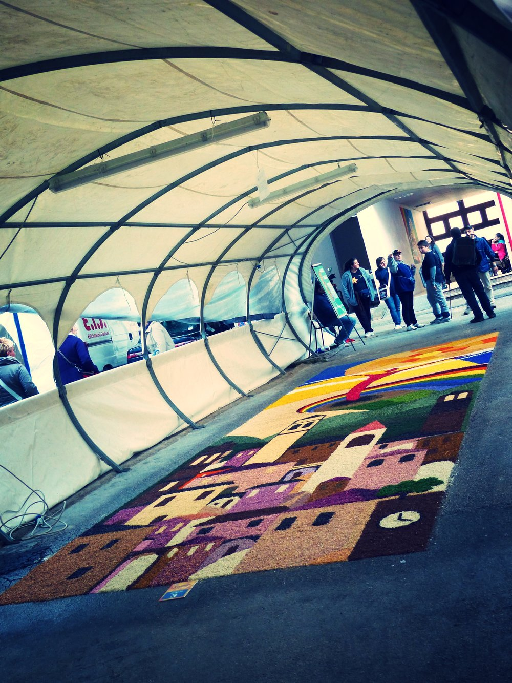 Middle School design for Infiorata in Spello, Umbria