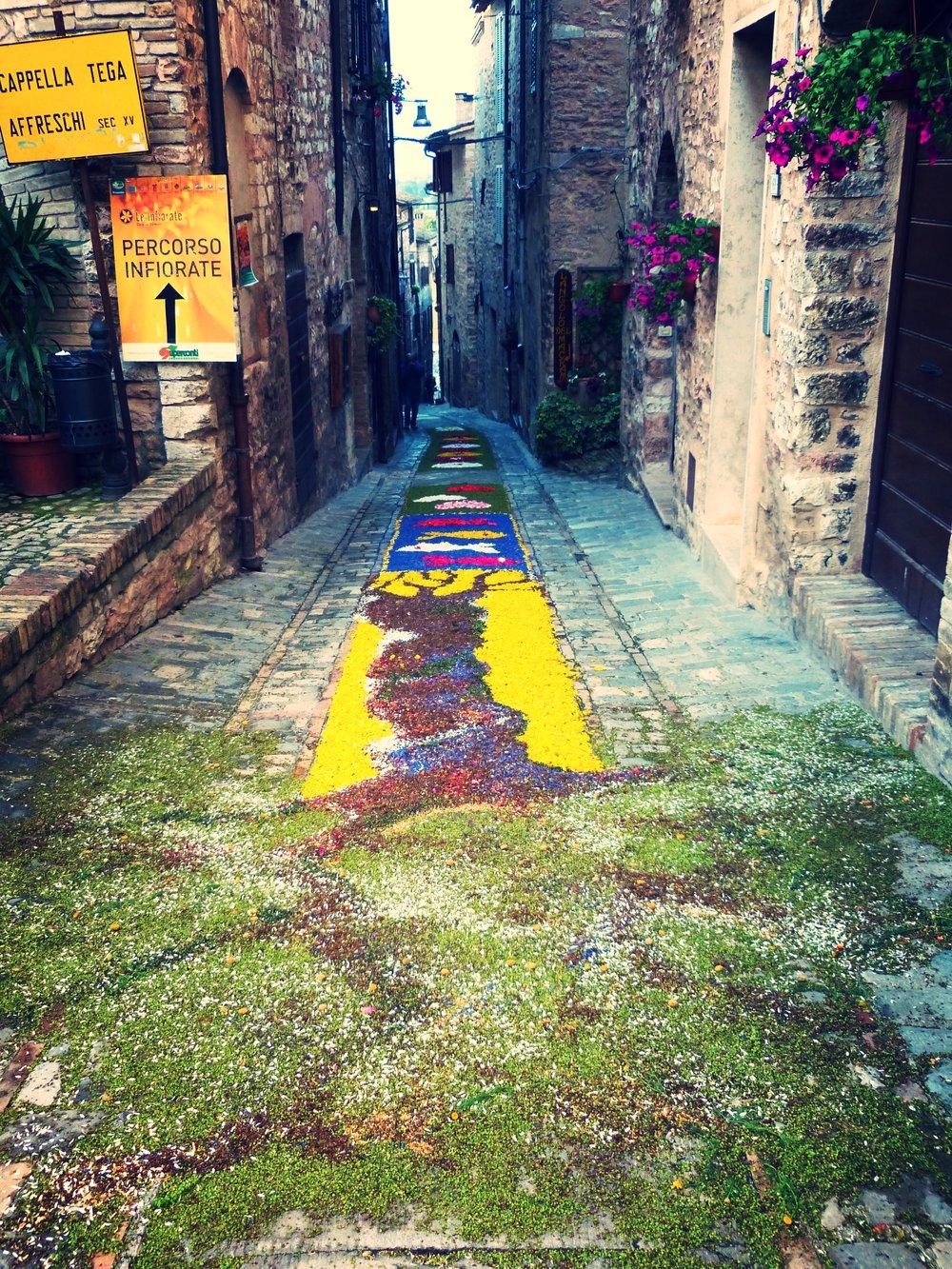 Infiorata in Spello, Umbria