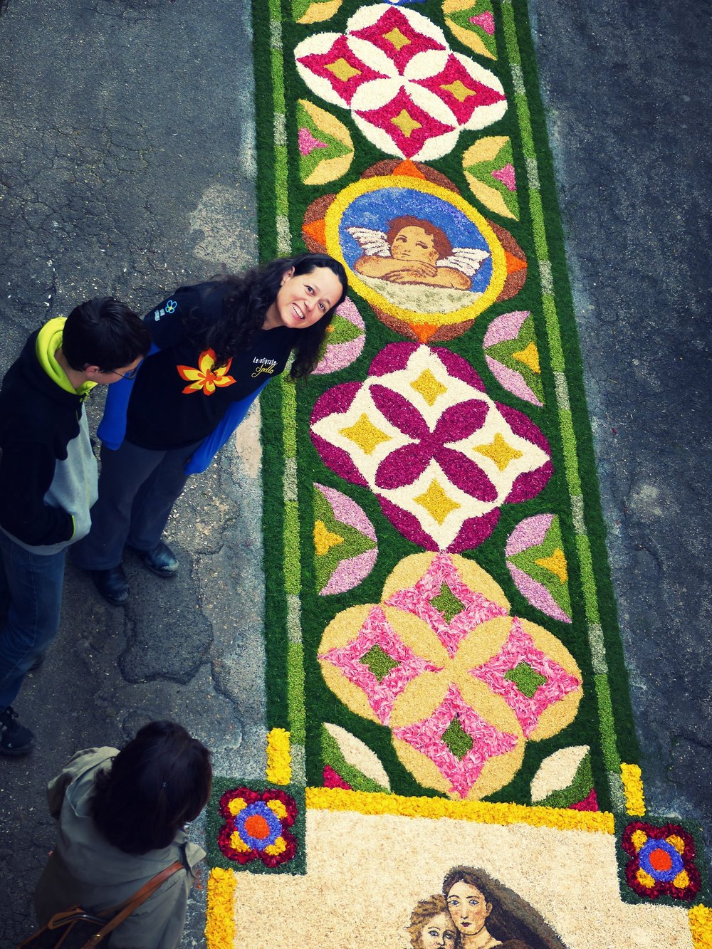 Proud of our efforts for Infiorata in Spello, Umbria