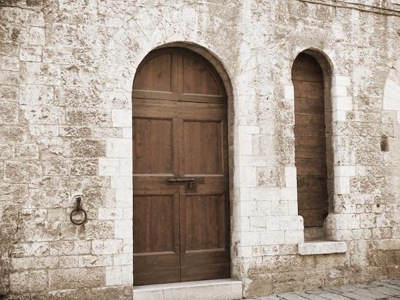 Extra door in Gubbio, Umbria