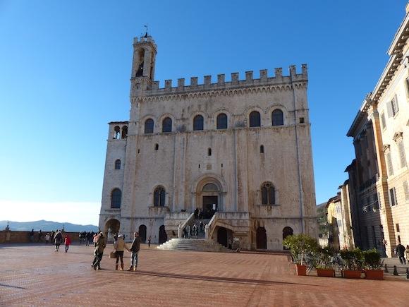 Piazza in Gubbio, Umbria