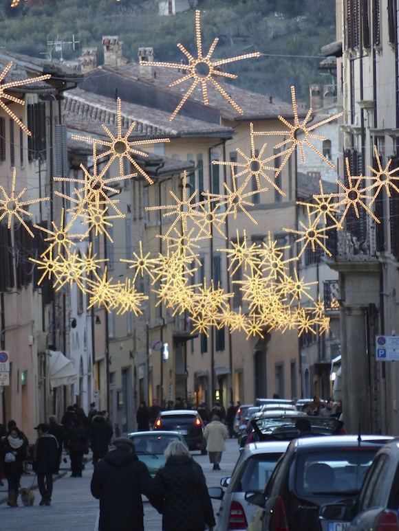 Christmas lights in Gubbio, Umbria