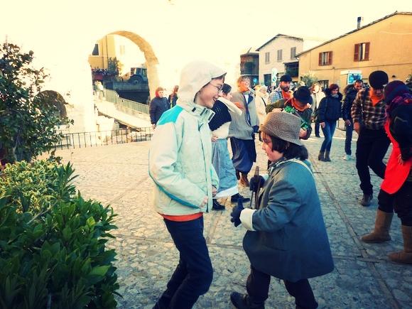 Dancing at L'Oro di Spello, Umbria