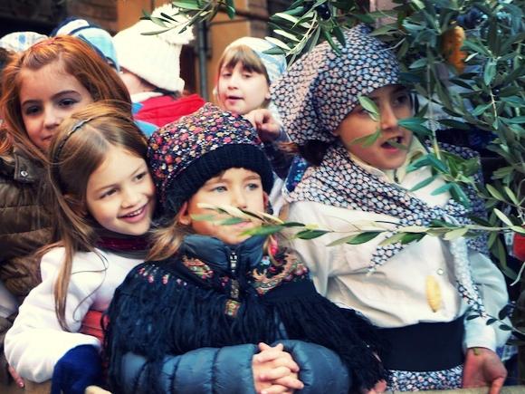 Children at L'Oro di Spello, Umbria